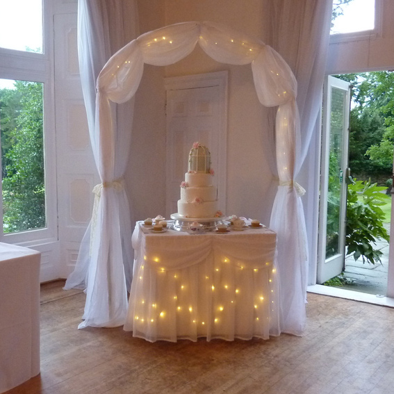 White Illuminated Wedding Arch