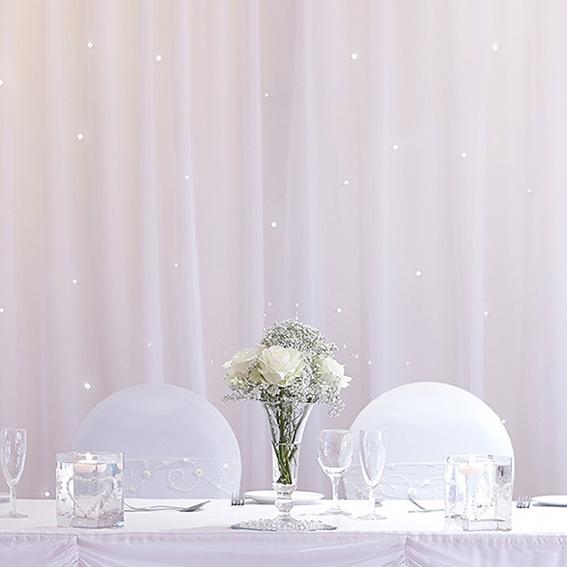White Illuminated Starcloth