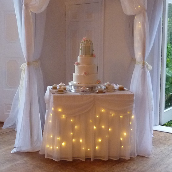 Cake Table Skirt