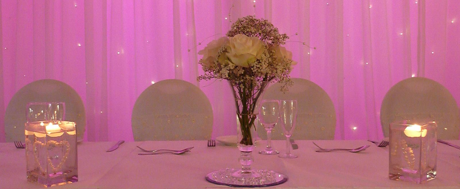 Wedding Venue Styling - Creative Lighting