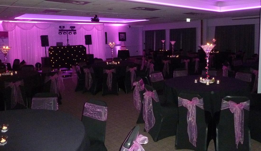 LED Mood Lighting - Evening Wedding Celebration