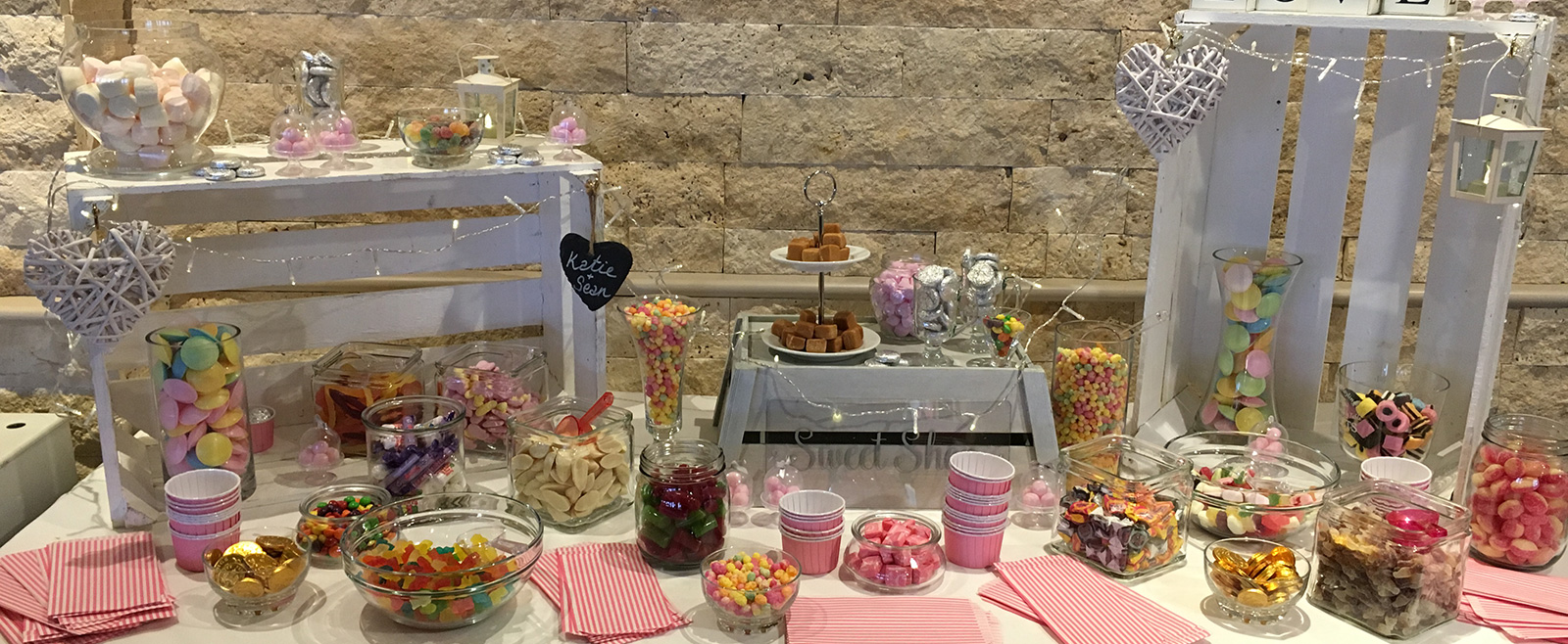 Wedding Venue Styling - Love Chocolate & Candy