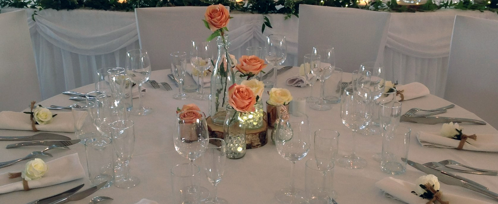 Wedding Venue Styling - Table Centrepieces