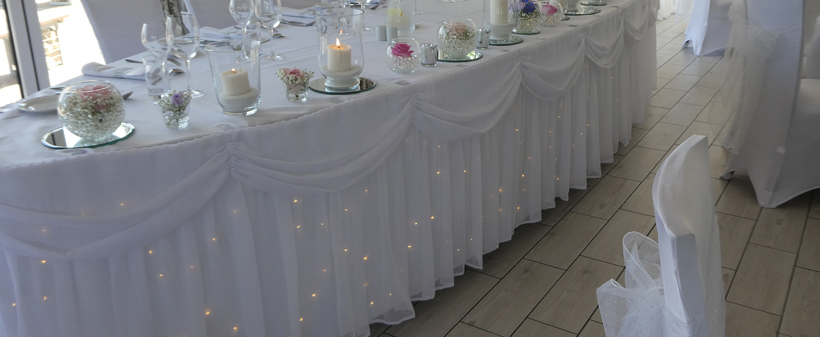 Wedding Styling - Table Skirts