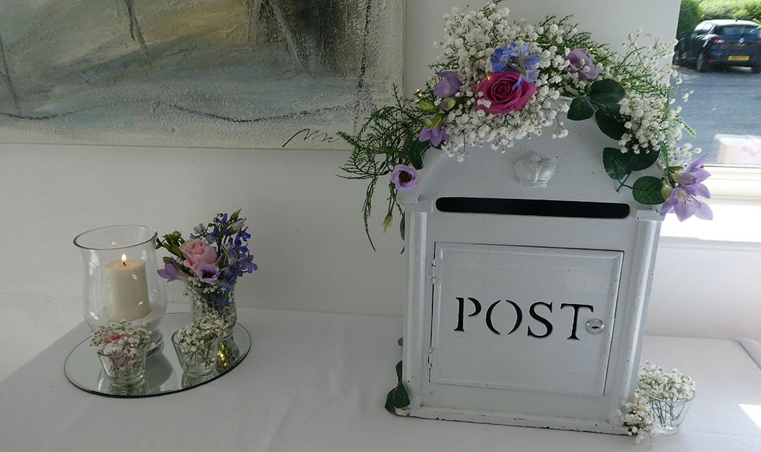 Wedding Venue Styling - Post Box & Gift Table