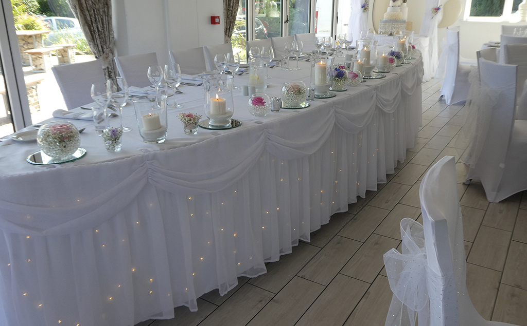 Table Skirts - Wedding Styling Hull