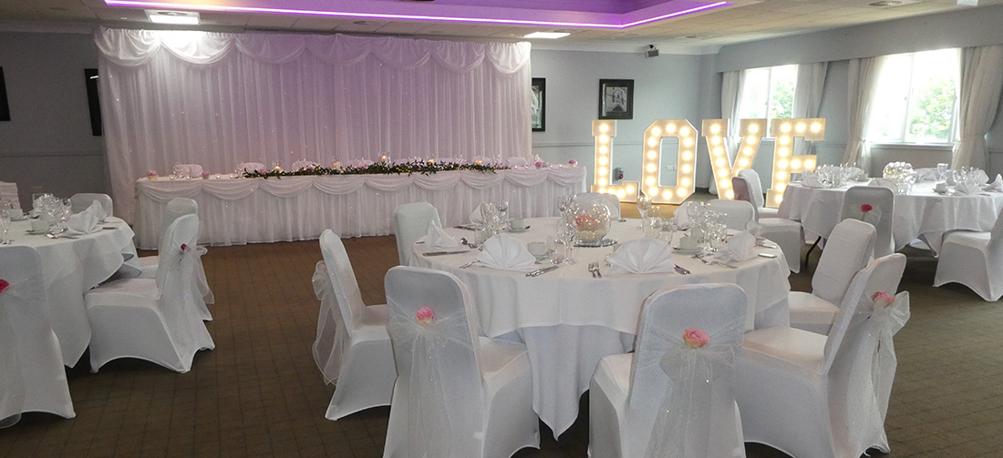Wedding Venue Styling - Giant Love Letters