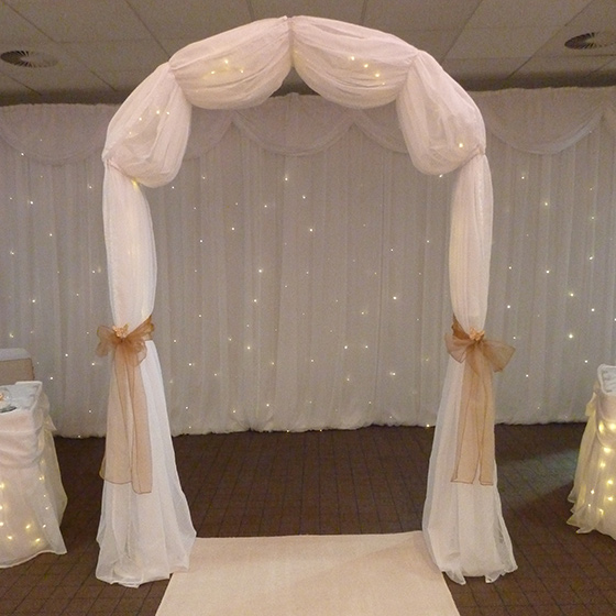 White Illuminated Wedding Arch